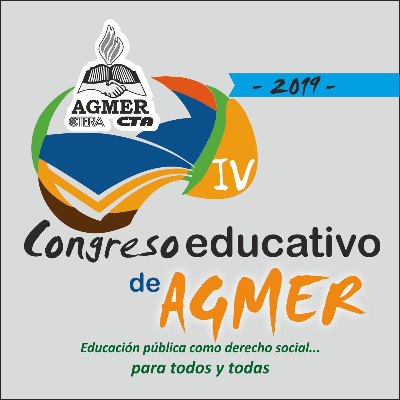 IV Congreso Educativo de AGMER: Educación pública como derecho social para todos y todas...