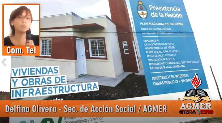 VIVIENDAS: Definiciones a los medios de la Sec. de Acción Social de AGMER: Delfina Olivera